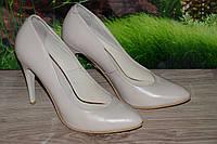 Туфли на каблуке М9беж Crisma кожа размер 38