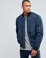 Куртка бомбер D-Struct - astrid синего цвета мужская (чоловіча)