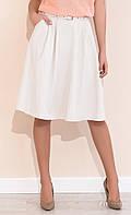 Женская летняя юбка Brenda Zaps бежевого цвета, коллекция весна-лето 2017.
