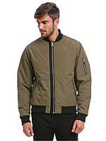 Куртка бомбер D-Struct - astrid зеленого цвета хаки мужская (чоловіча)