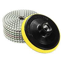 Алмазные круги диски липучки для полировки камня в наборе 8 штук