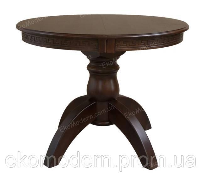 Стол обеденный деревянный ЛЕО Премиум+ (100 см, круглый, квадратный) для дома, кафе и ресторана