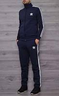 Cпортивный костюм Adidas для подростков! Размеры 40, 42, 44, 46, 48! Темносиний