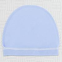 Шапочка для новорожденного мальчика. р 50  Хлопок-интерлок В наличии для 50 роста .