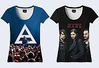 "Женская футболка 3D ""30 Seconds to Mars"" (р.42-50)"
