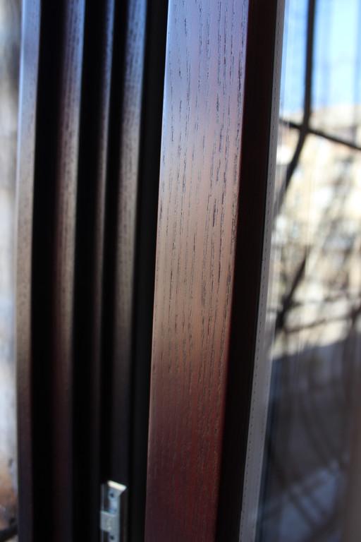 Евроокно деревянное ясень 12