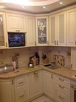 кухня угловая из ясеня ваниль фото 12