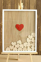 Рамка с сердцами для пожеланий