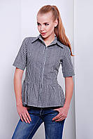Женская черная блузка в клеточку Доминика Glem 44-50 размеры