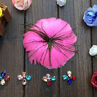 Перо-цветок декоративный Розовый 12 см 1 шт