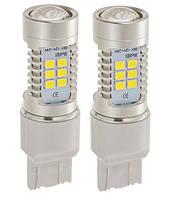 Светодиодные лампы LED/линза W21W (21-SMD)(12V)(3535)(Белый)