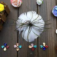 Перо-цветок декоративный Белый 12 см 1 шт