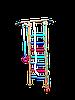 """Шведская стенка детская """"Киндер Люкс Хамелион"""" БЕСПЛАТНАЯ ДОСТАВКА"""