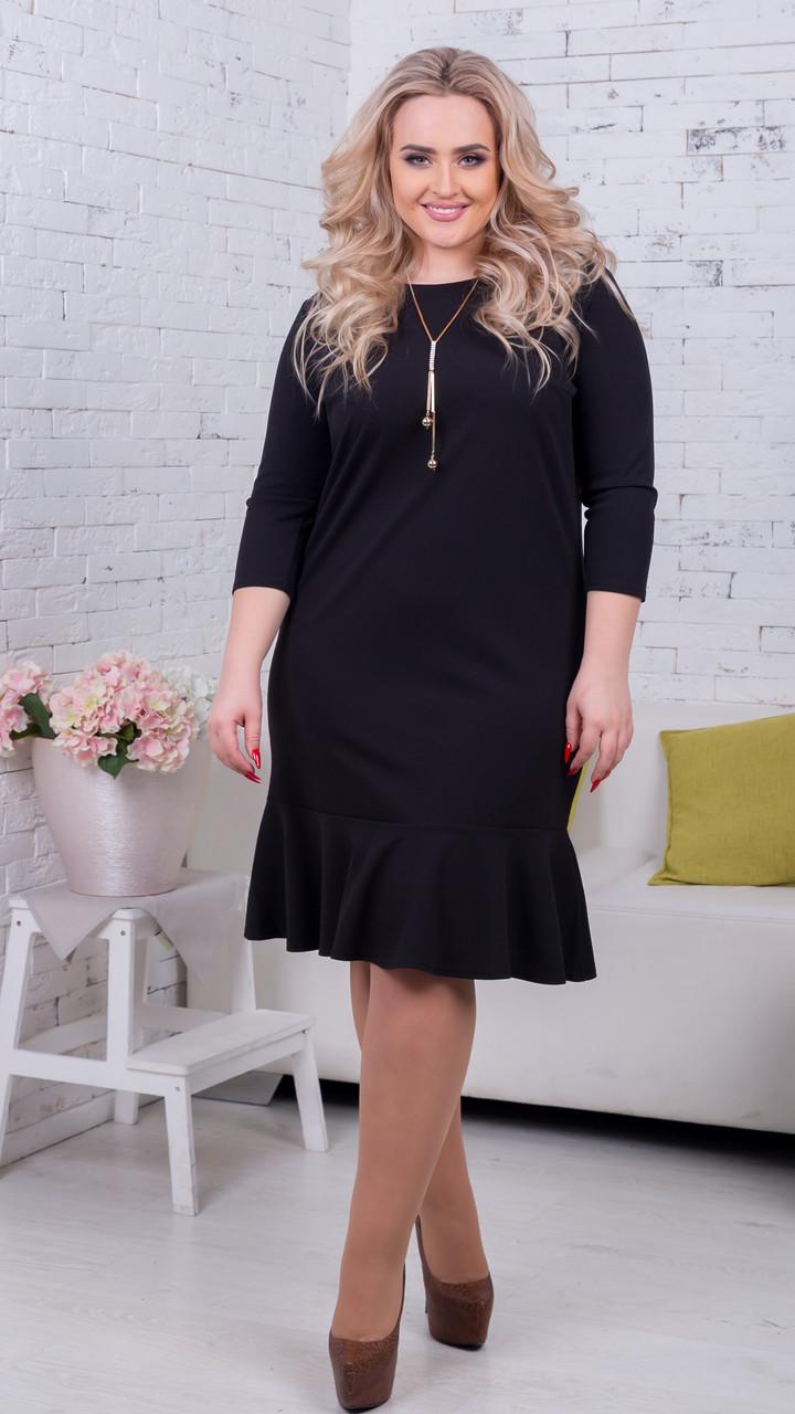 Женское платье  Волан(46-60) 8158