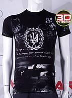 Valimark cтильная мужская футболка Валимарк тризуб герб 3D код 17164