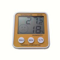 Цифровой термометр часы гигрометр DC-108