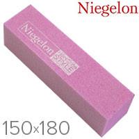 Niegelon Бафик 06-0574 шлифовочный минеральный для ногтей розовый 150х180
