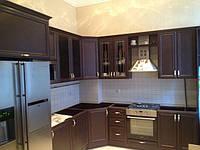 кухня угловая классика венге фасад мдф фото 13