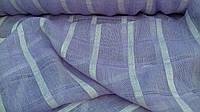 Льняная ткань для штор фиолетового цвета (шир. 165 см)