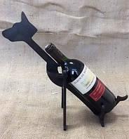 """Деревянная подставка под бутылку вина """"Доберман"""""""