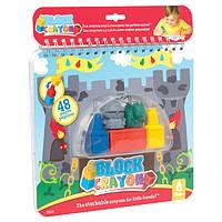 Набор-раскраска Рыцарь и дракон Block Crayon Wooky (06018)