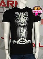 Valimark cтильная мужская футболка светится в темноте тигр человек  код 17187, фото 1