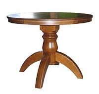 Стол раскладной обеденный ЛЕО+ на одной ноге из дерева бук для кухни дома