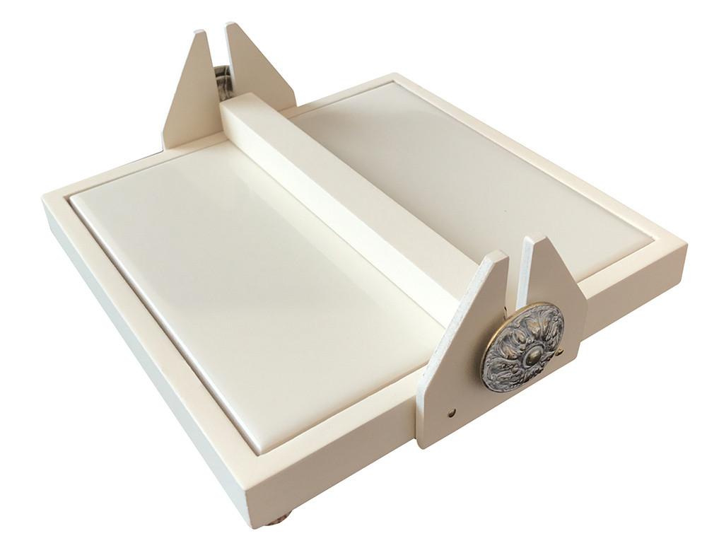 Салфетница  в тонкой рамке из светлого натурального дерева с прижимом и плитокой для сублимации ( 15*15 см)