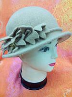 Шляпы RABIONEK из шерсти с цветком, темный беж цвет
