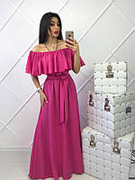 Красивейшее женское платье из креп-шифона