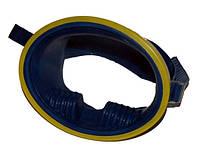 Маска резиновая с жёлтым ободком