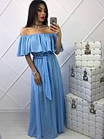 Нежное женское платье из креп-шифона