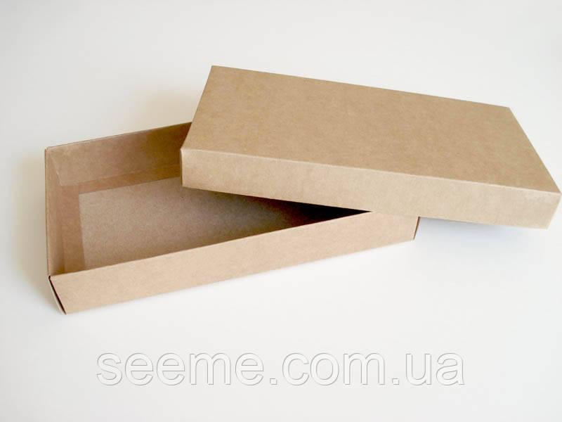 Коробка подарочная из крафт картона, 220х120х35 мм.
