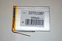 Универсальный аккумулятор (АКБ, батарея) для китайских планшетов 3.7V 5000mAh (5.0*70*108mm)