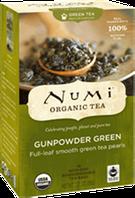 """Органический зелёный чай """"Ганпаудер грин"""" Numi"""