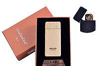 """Спиральная USB зажигалка """"Bolin"""" №4790 Gold, спираль с двух сторон, практичный и стильный гаджет для мужчины"""