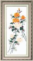 Набор для вышивания крестом Crystal Art Этюд с желтыми розами