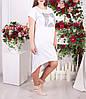 """Трикотажное платье большого размера """"Старлет"""", фото 2"""