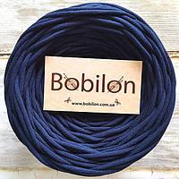 Ленточная пряжа Бобилон, цвет синий сапфир