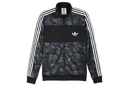 Мужские Олимпийки Bape&Adidas Camo темный