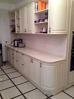 кухня из ясеня классика + столешница мрамор фото 19