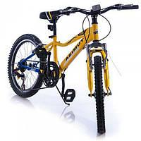 Детский горный велосипед 20 дюймов Azimut Knight G-1 (оборудование SHIMANO) сине-желтый***