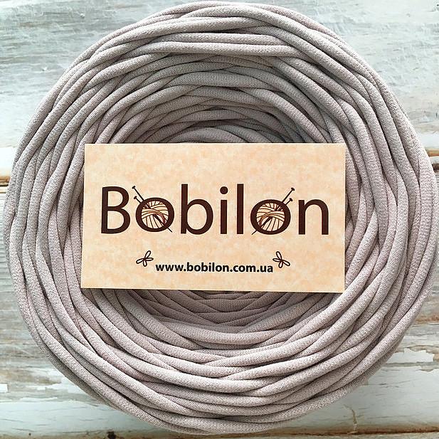 Пряжа трикотажная лента Бобилон, цвет пудровый