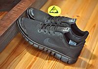 Мужские кроссовки Nike Free Run 3.0. черные 1001