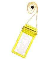 Водонепроницаемый чехол сумка для телефона, планшета, документов 5,5 дюймов. Желтый