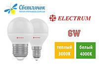 Светодиодная лампа Electrum 6W D45 LB-32