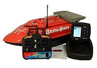Радиоуправляемый кораблик для рыбалки Дельфин-3 с эхолотом Lucky FF918-WL2