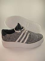 Adidas мокасины текстиль белый