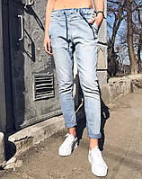 Джинсы Blue Fashion 4026 женские бойфренд, стильные женские брюки, шорты, женская одежда , фото 1