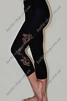 Оригинальные женские бриджи черного цвета 10142